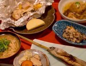 鶴の湯温泉 料理