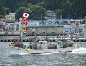 津軽海峡での釣り