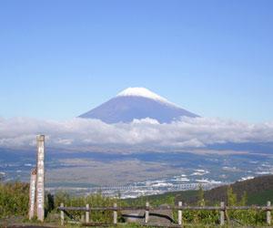 芦ノ湖スカイラインから富士山