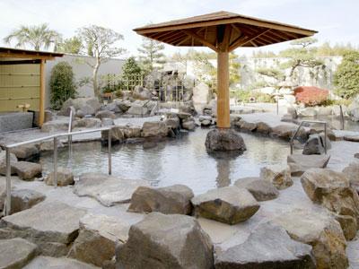 天然温泉 かきつばた 露天岩風呂