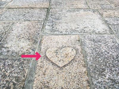 京店商店街の石畳