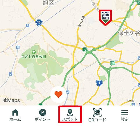 ゆーゆアプリマップ画面