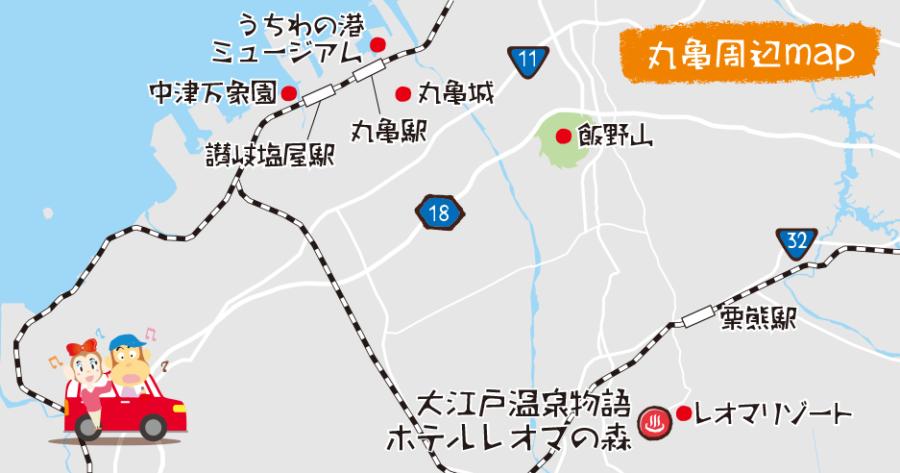 丸亀周辺地図
